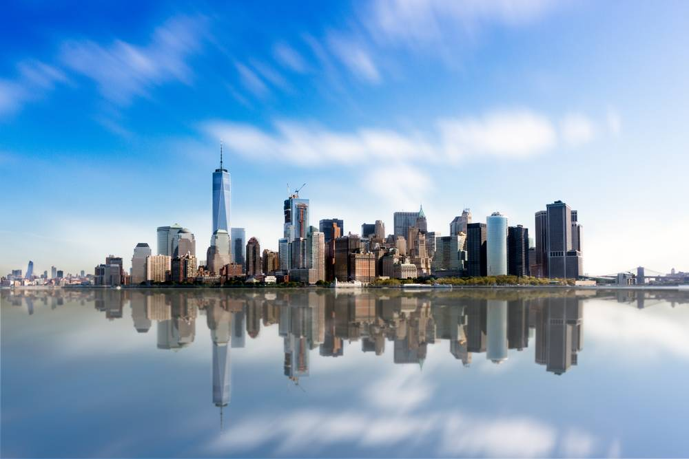 Manhattan Skyline and Reflections Photographie de Dominique Richeux