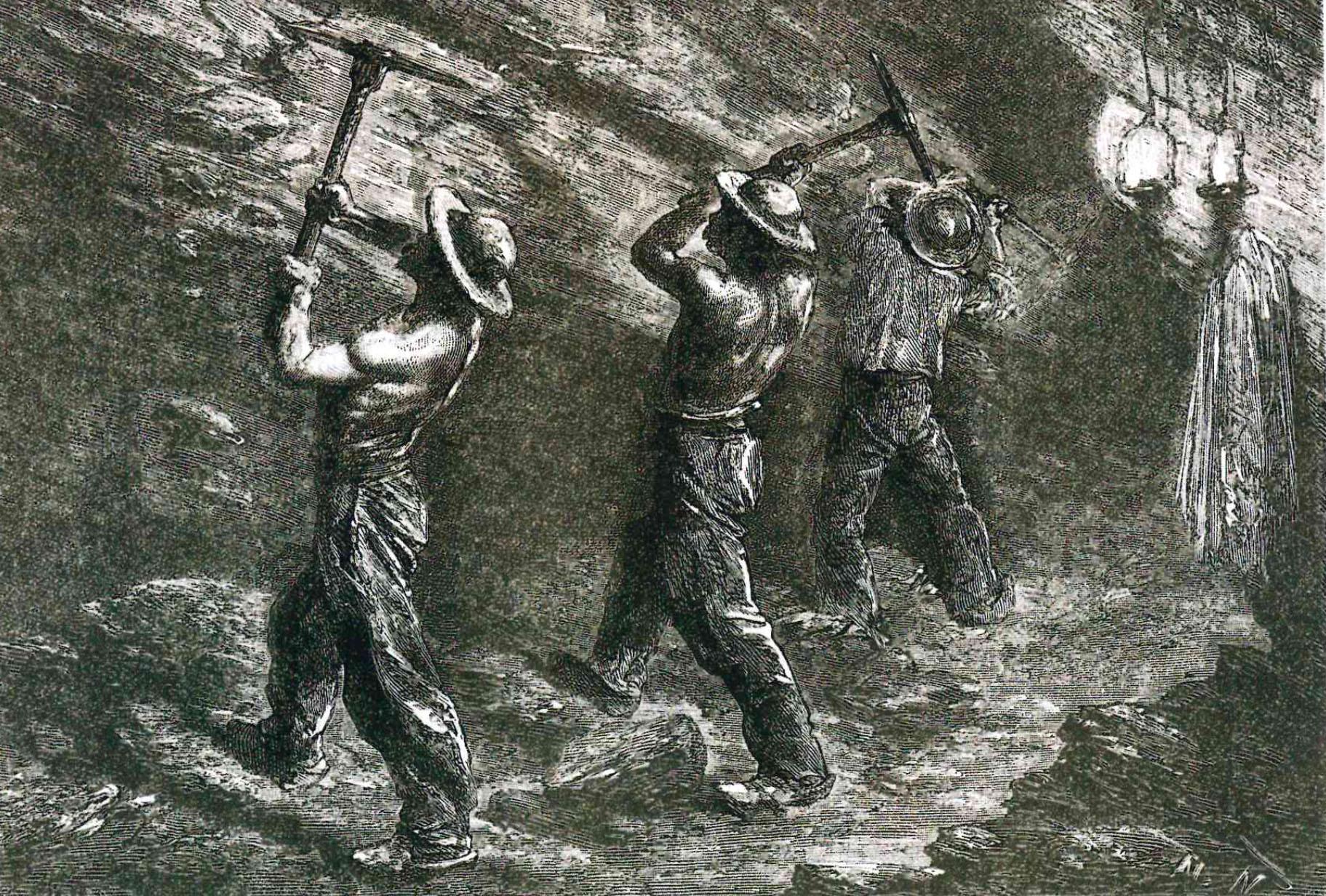 mineurs en 1865